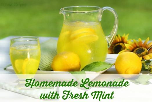 Homemade Lemonade with Mint