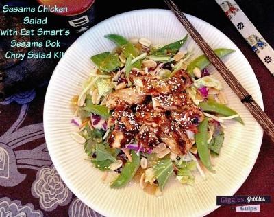 Sesame Chicken with Eat Smart Sesame Bok Choy Salad Kit