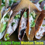 Chipotle Chunk Light Tuna Wonton Tacos