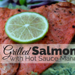 Grilled Salmon with Hot Sauce Marinade