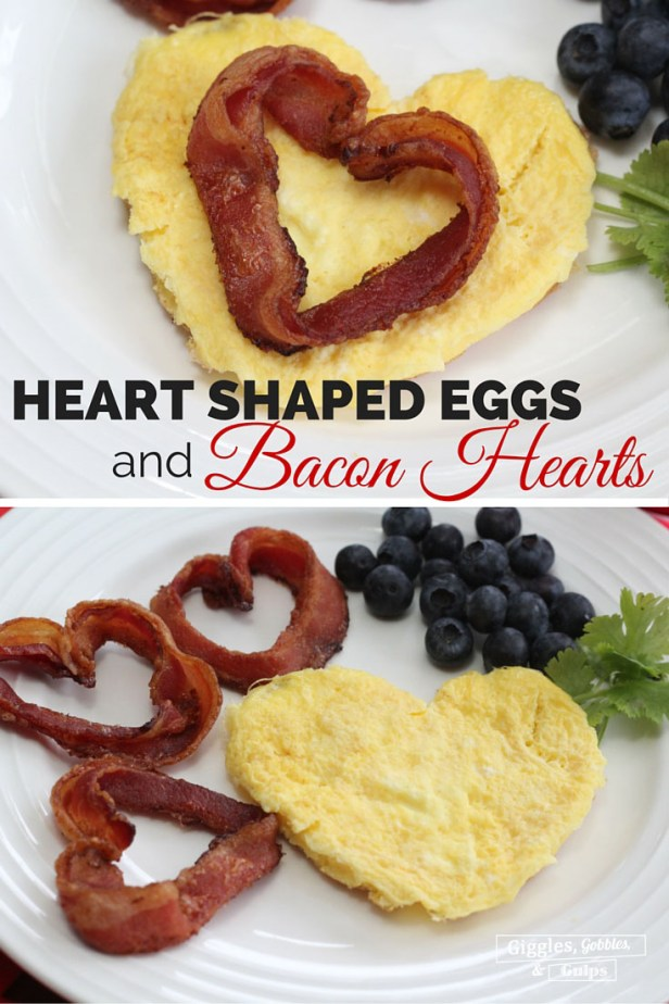 heart shaped eggs bacon1