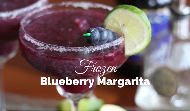 Frozen Blueberry Margarita
