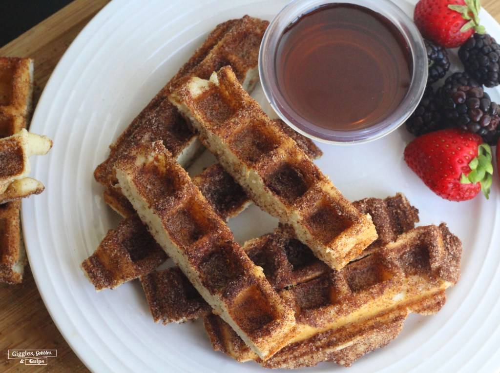 Cinnamon Sugar Waffle Sticks - Giggles, Gobbles and Gulps