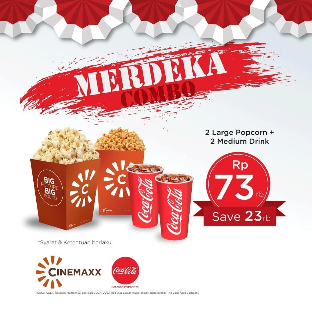 Cinemaxx Theater Promo Merdeka Combo Diskon Rp 23 000 - Cinemaxx Coupons