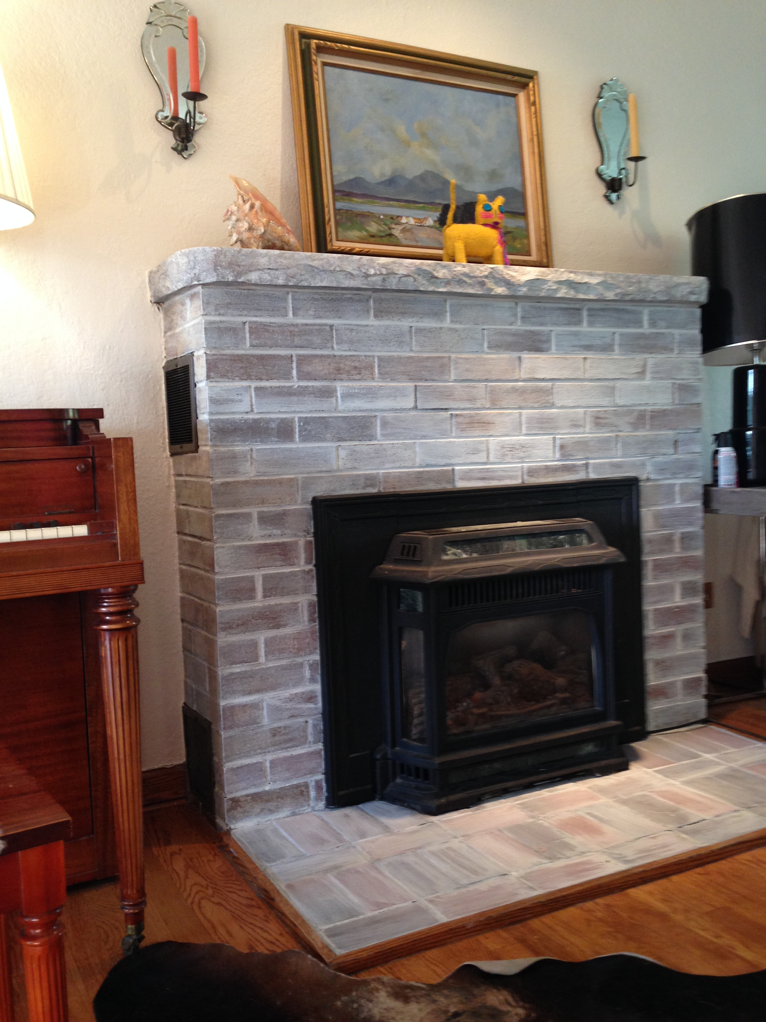Whitewash Fireplace Before And After The Hopeful Brick Fireplace Part 1 The Colorado Nest