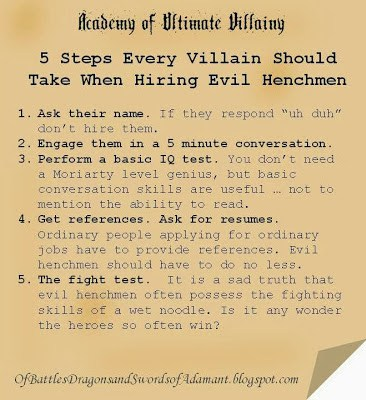 5 Steps Every Villain Should Take When Hiring Evil Henchmen