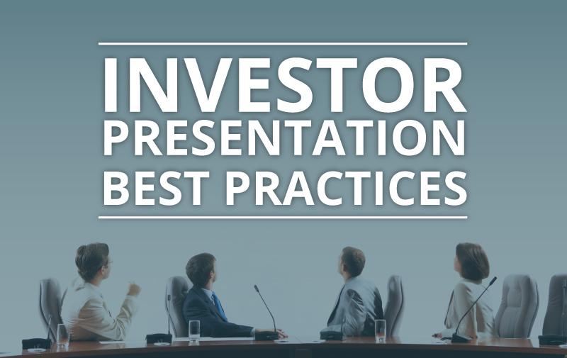 Investor Presentation Best Practices \u2013 Gilmartinir