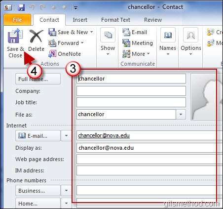 How to Quickly Add Contacts from Emails in Outlook 2010 GilsMethod