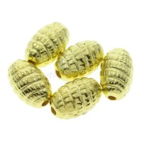 Plated CCB Plastic Beads Copper Coated Plastic Oval gold ...