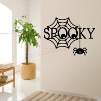 Wall Stickers PVC Plastic Spider Web adhesive Halloween ...