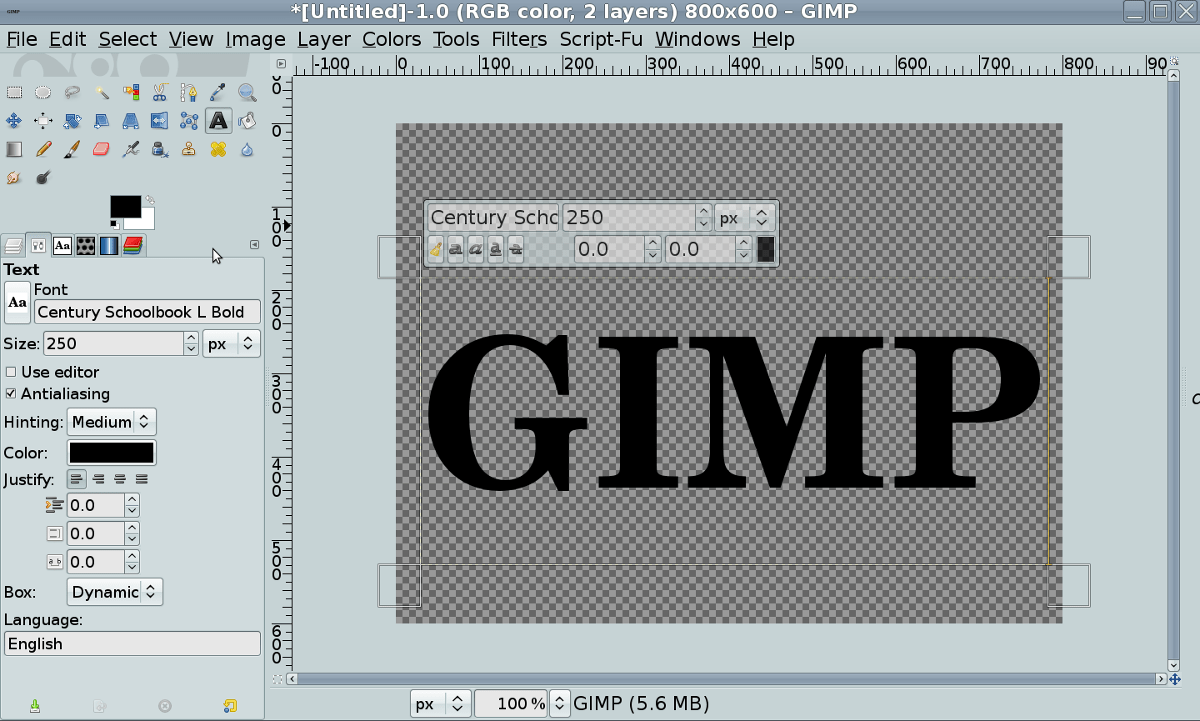 2 Gimp Tutorial Gimp Chat Environment Mapped Text Tutorial