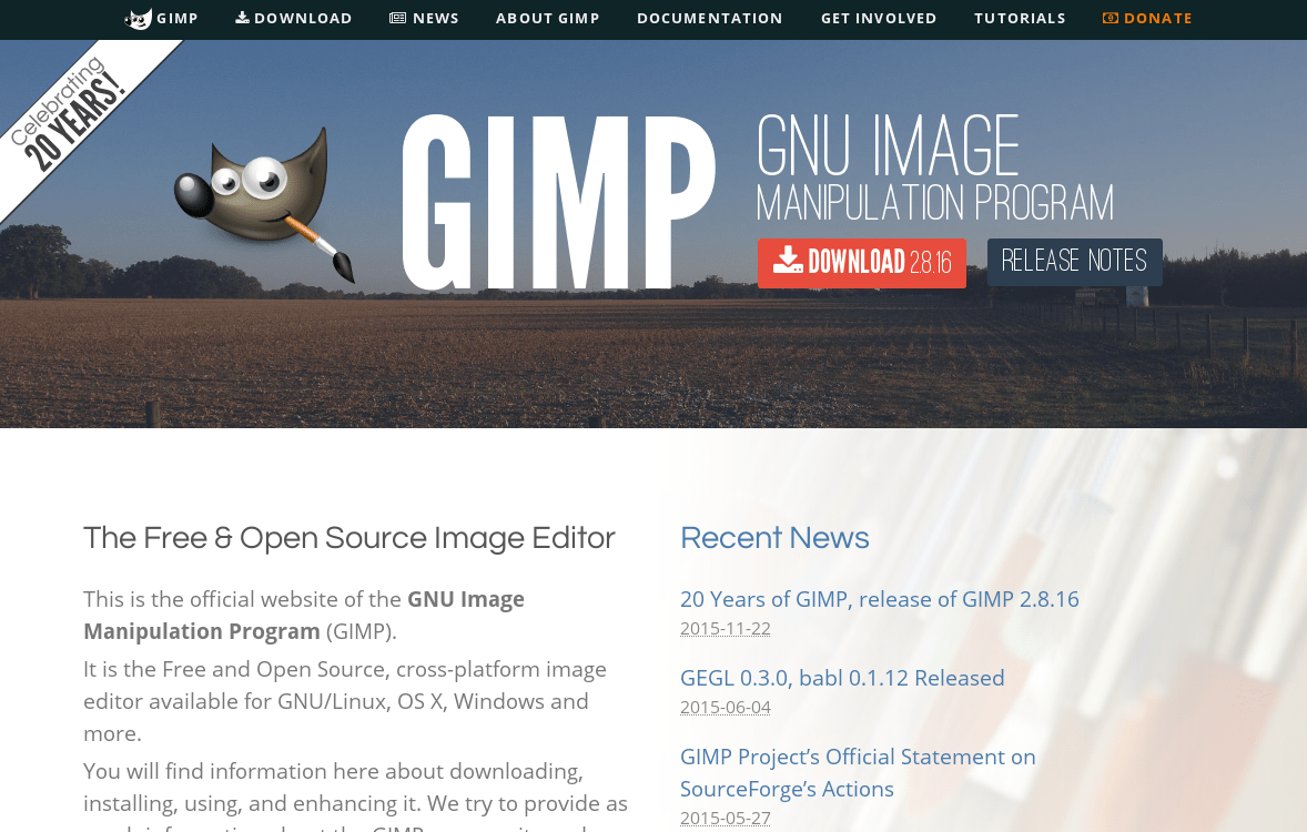 2 Gimp The 20 Years Anniversary Gimp 2 8 16 And A New Website News