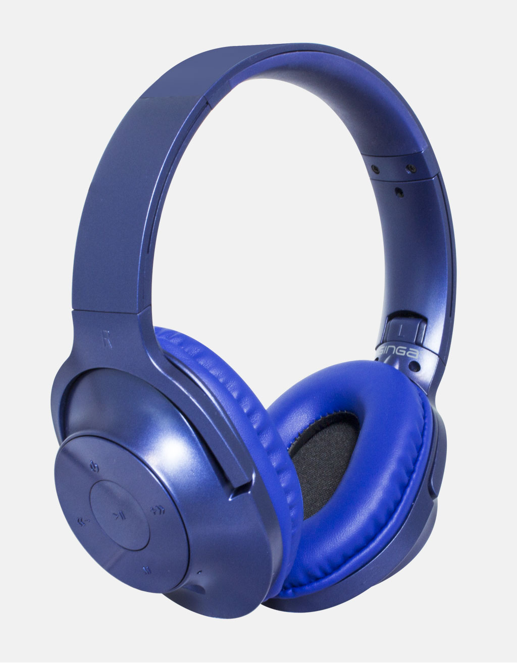 Manos Libres Para Movil Audífonos Dj Manos Libres Bluetooth Azul Ginga Chrome Gi18adj01bt