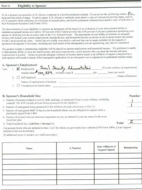 Affidavit Of Support Uscis Form | Create Professional Resumes