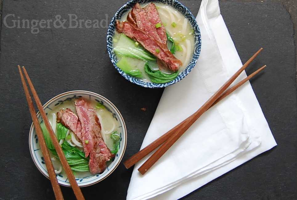 Japan: Simple Miso Soup with Beef and Bok Choi