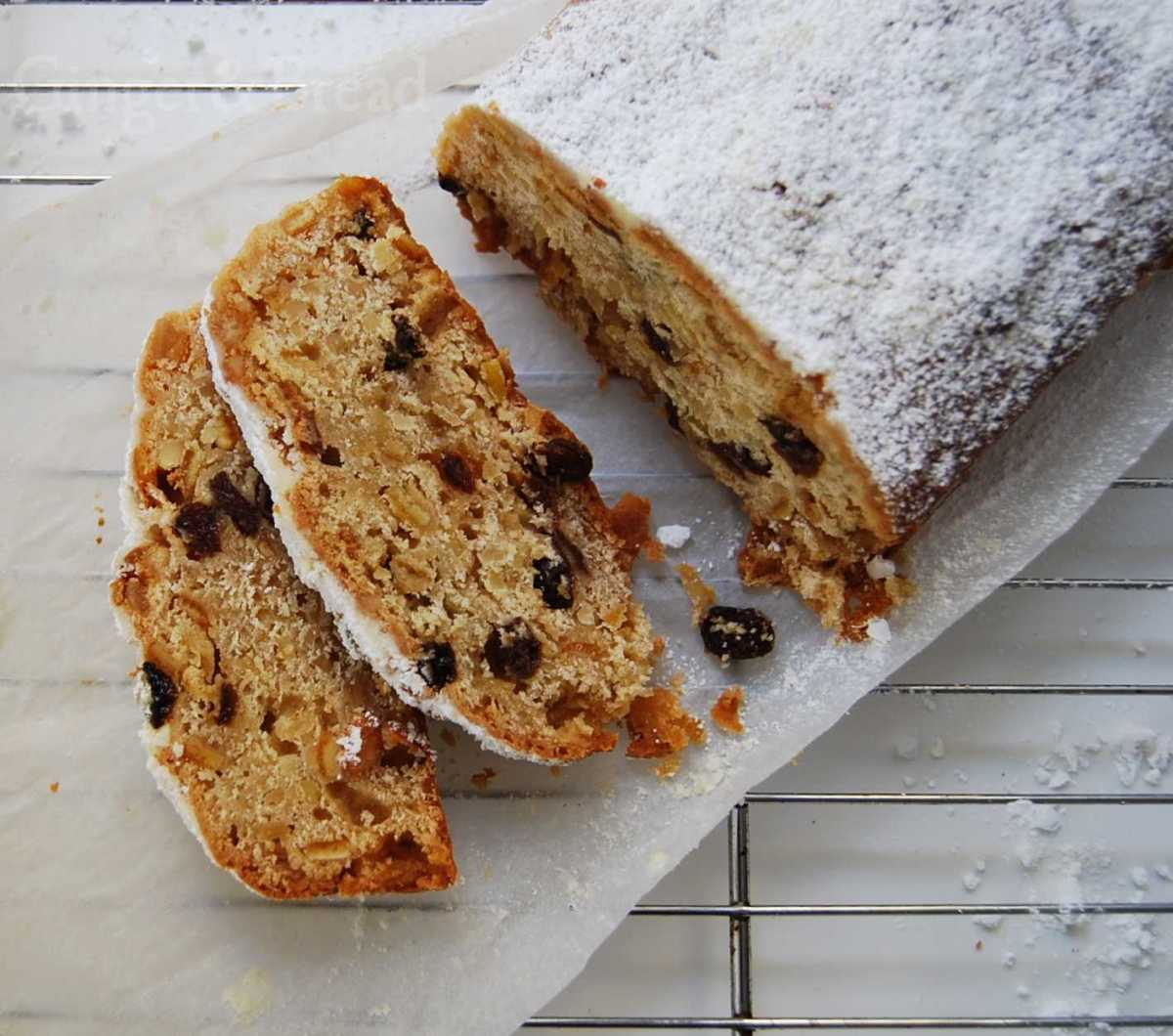 Stollen with Marzipan and Quark Filling