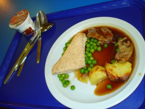 What Germans think a British dinner looks like ...