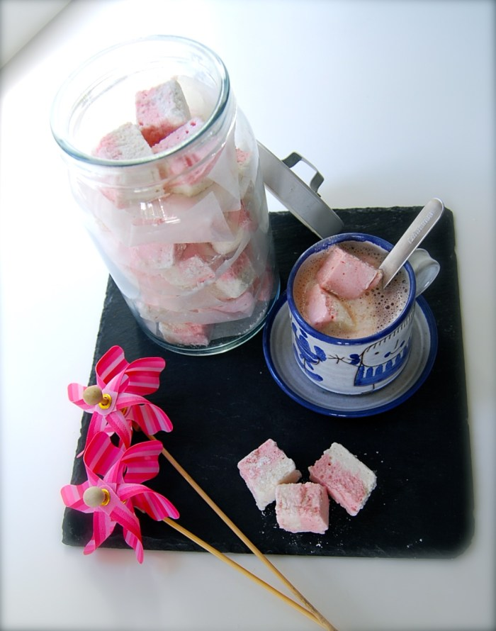 Hot chocolate with homemade marshmallows.