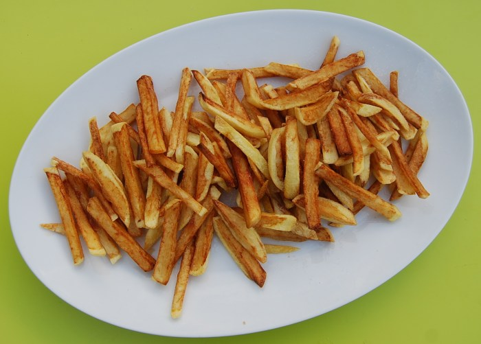 Belgian chips, or fries. But never French fries.