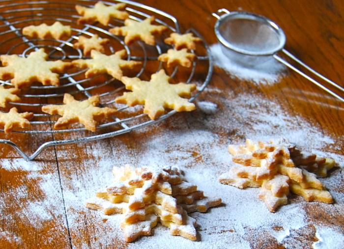 Butter biscuit snow flakes