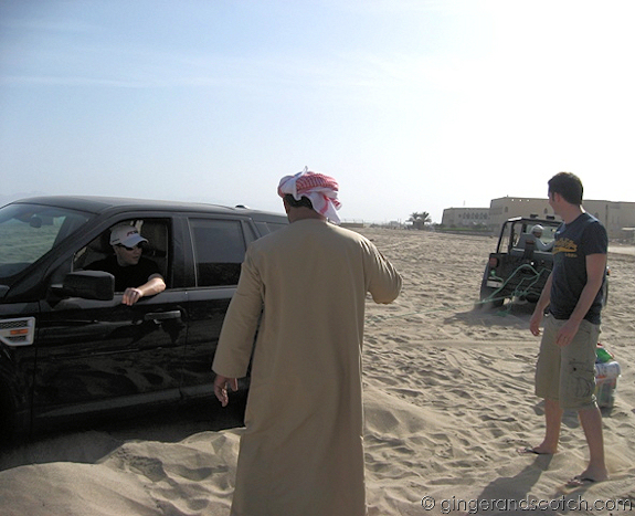 Being Towed out of the Sand