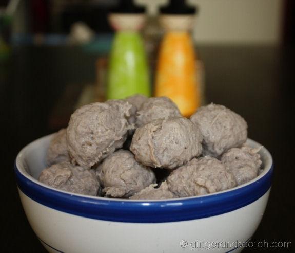 Ngau Yoke Yuen = Chinese Beef Meatballs