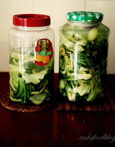 Vietnamese preserved mustard cabbage (dua muoi)