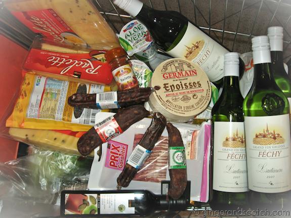 Swiss shopping cart