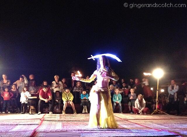 Full Moon Drumming - belly dancer
