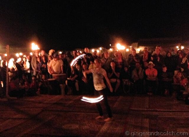 Full Moon Drumming - Fire Dancer