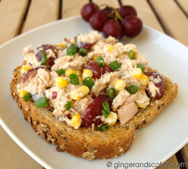 Tuna Salad with Fresh Corn