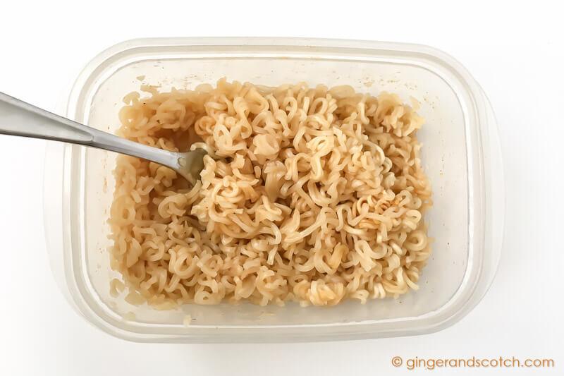 Making Ramen Noodles in College