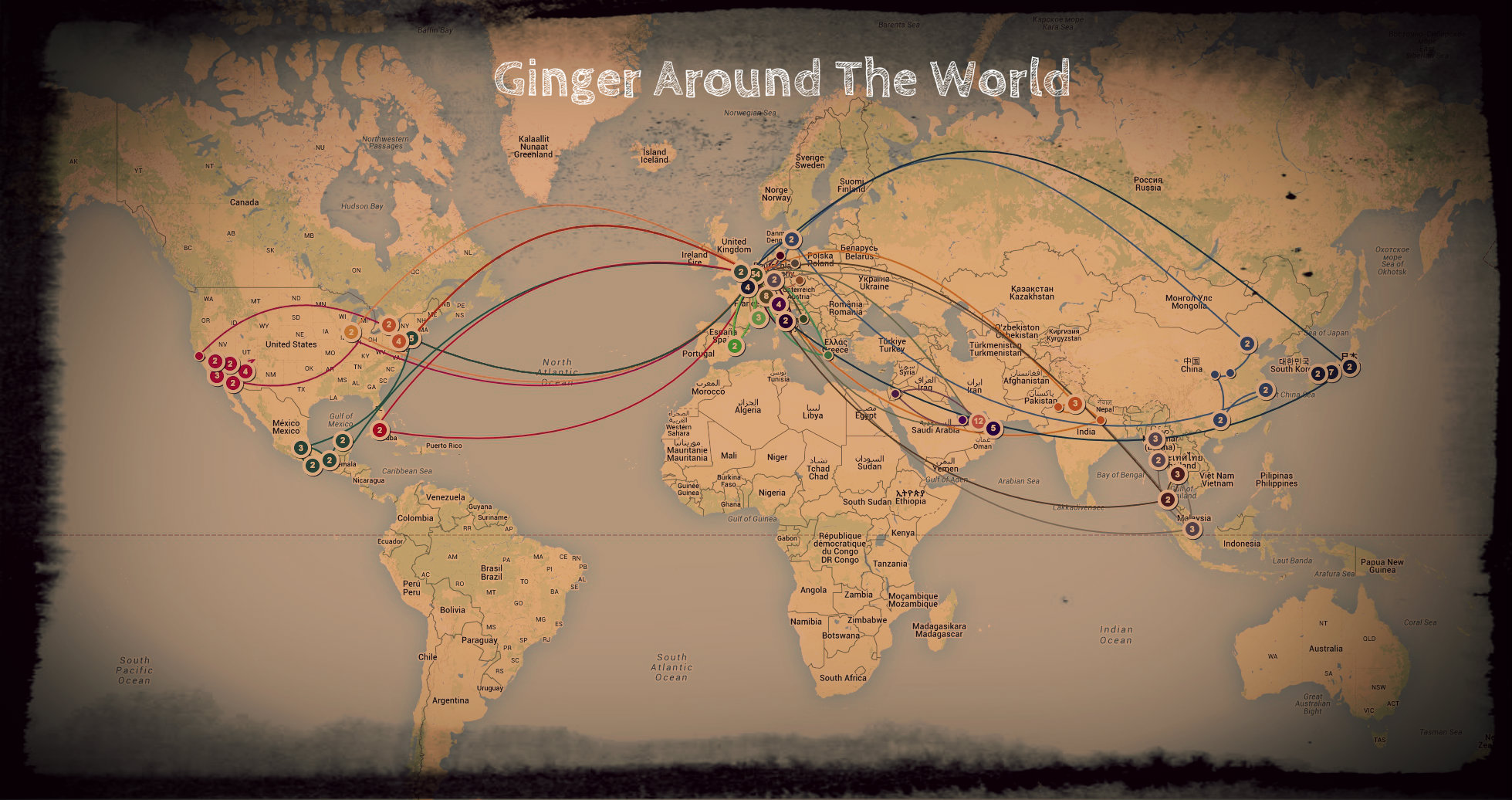 Travel Blog With Map Create An Awesome Travel Map In 5 Easy Steps Ginger Around