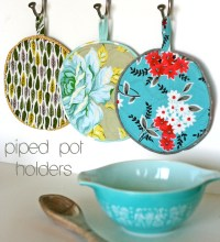 Piped Pot Holders Tutorial | Gingercake