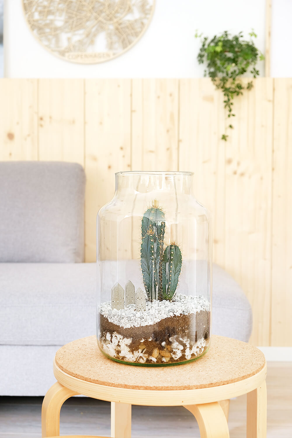 Diy Dehner Kakteen Terrarium Beton Deko Tisch Gingered Things Gingered Things
