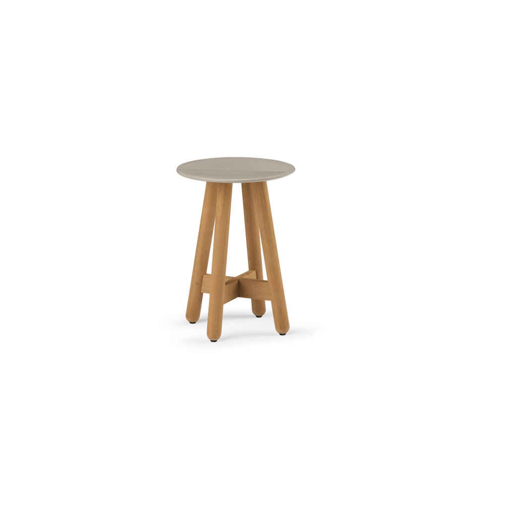 Dedon Mbrace Dedon Mbrace Side Table Small Taupe Ginger Jar Furniture