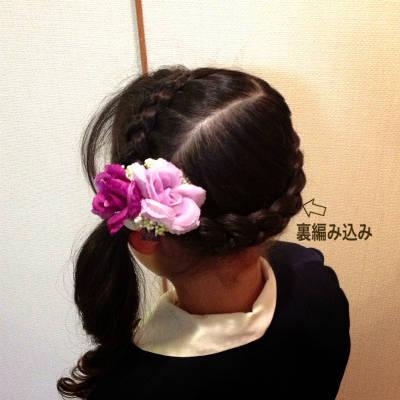 卒園式当日のヘアー