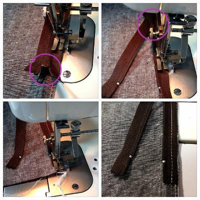 ファスナー縫い付けのコツ