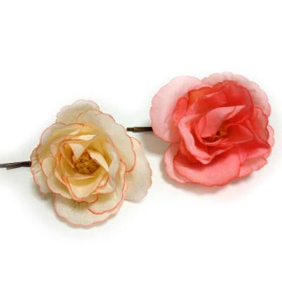 100円造花で簡単手作り髪飾り