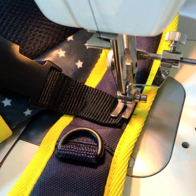 直接縫い付ける