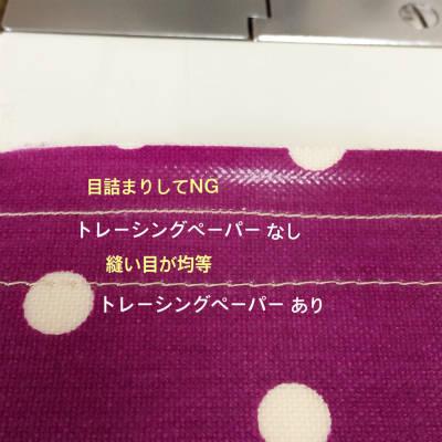 ラミネート生地の縫い方