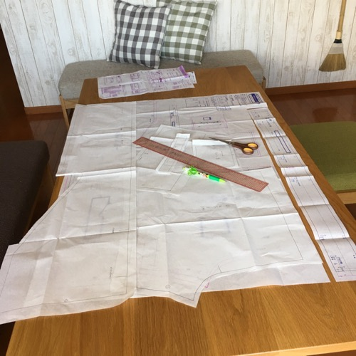 縫い代込みパターン