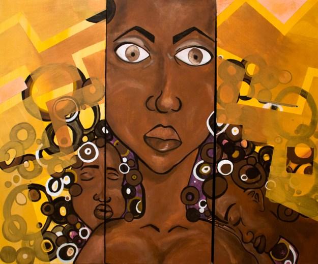 Nubian 3 Acrylic on Canvas