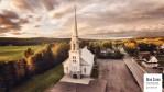 Une église…. vue du ciel