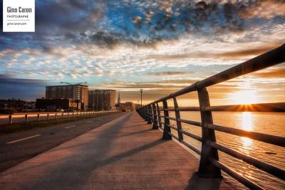 Un beau coucher de soleil à Rimouski