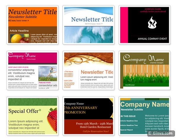 10+ Excellent Websites for Downloading Free HTML Email Newsletter - newsletter templates word free