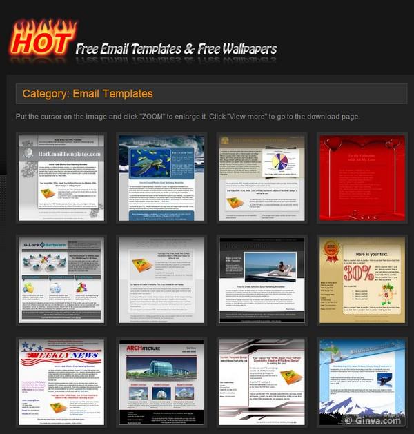 10+ Excellent Websites for Downloading Free HTML Email Newsletter