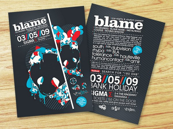 25 Stunning Examples of Nightclub Party Poster / Flyer Design Ideas - cool flyer ideas