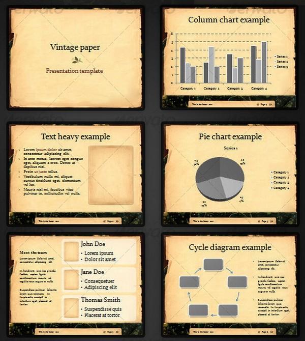 Beautiful Retro and Vintage PowerPoint Presentation Templates Ginva