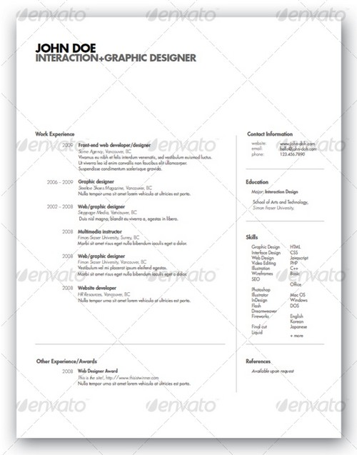 Sample Professional Resume Templates  resume templates examples     happytom co